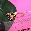 Золотая булавка для мальчика Вертолет - Детская золотая булавочка для мальчика, фото 4