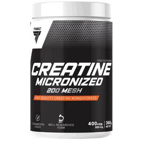 Creatine Micronized 200 Mesh Trec Nutrition (400 капс.), фото 2