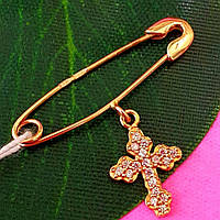 Золота шпилька з хрестиком
