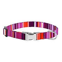 Ошейник для собак мелких пород West нейлоновый c металлической пряжкой Фиолетовый