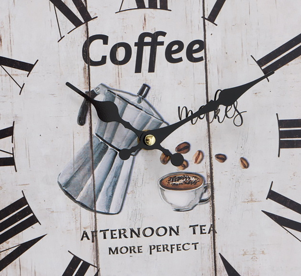 Настенные часы МДФ коричневый d34см Гранд Презент 1021691-1 кофе