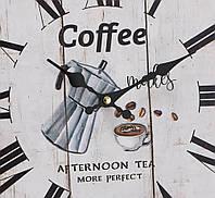 Настенные часы МДФ коричневый d34см Гранд Презент 1021691-1 кофе, фото 1