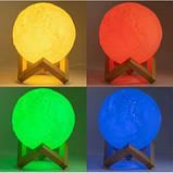 Настольный светильник луна, Magic Moon Light. Ночник для дома, 4D Moon Lamp 15см, фото 4