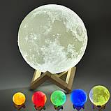 Настольный светильник луна, Magic Moon Light. Ночник для дома, 4D Moon Lamp 15см, фото 8