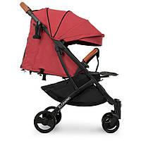 Детская прогулочная коляска для девочки цвет Кораловый ВЕС 7кг складывается YO