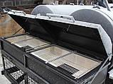 Двойной смокер-гриль на 2-х осном шасси, фото 5