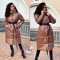 Женская кожаная куртка пальто. Цвета!, фото 1