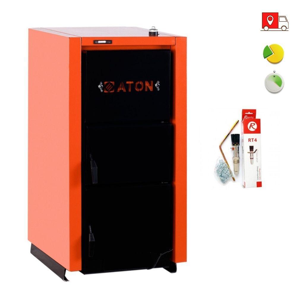 Твердопаливний котел ATON ТТК Multi 20кВт + Регулятор тяги Regulus RT4
