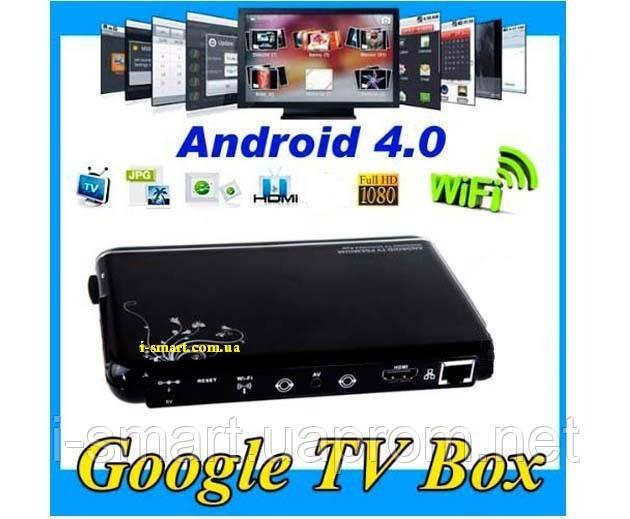 Android 4.0 Cortex A9 HDMI HD 1080P Wifi Internet Smart TV Box Media Play