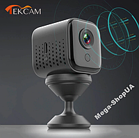 Беспроводная мини WiFi Вай Фай IP камера видеонаблюдения на аккумуляторе для дома. Камера відеонагляду RY542A