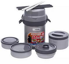 Набір для ланчу ZOJIRUSHI SL-JAF14SA (4 контейнера + палички), сірий