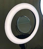Кольцевая лампа для визажиста RL18 II 45 см  / 55W с зеркалом + сумка + Подарок, фото 1