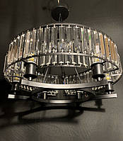 Шикарная современная хрустальная люстра на 6 ламп черная, фото 1