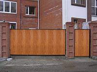 Распашные ворота из сэндвич-панелей Алютех