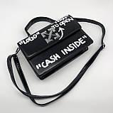 Женская классическая сумка CASH INSIDE черная, фото 5