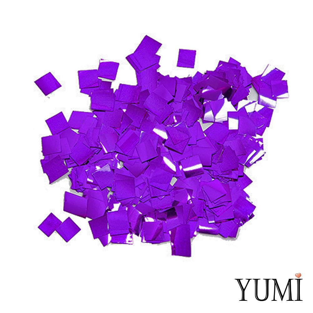 Конфетти квадратики фиолетовый пастель, 8 мм