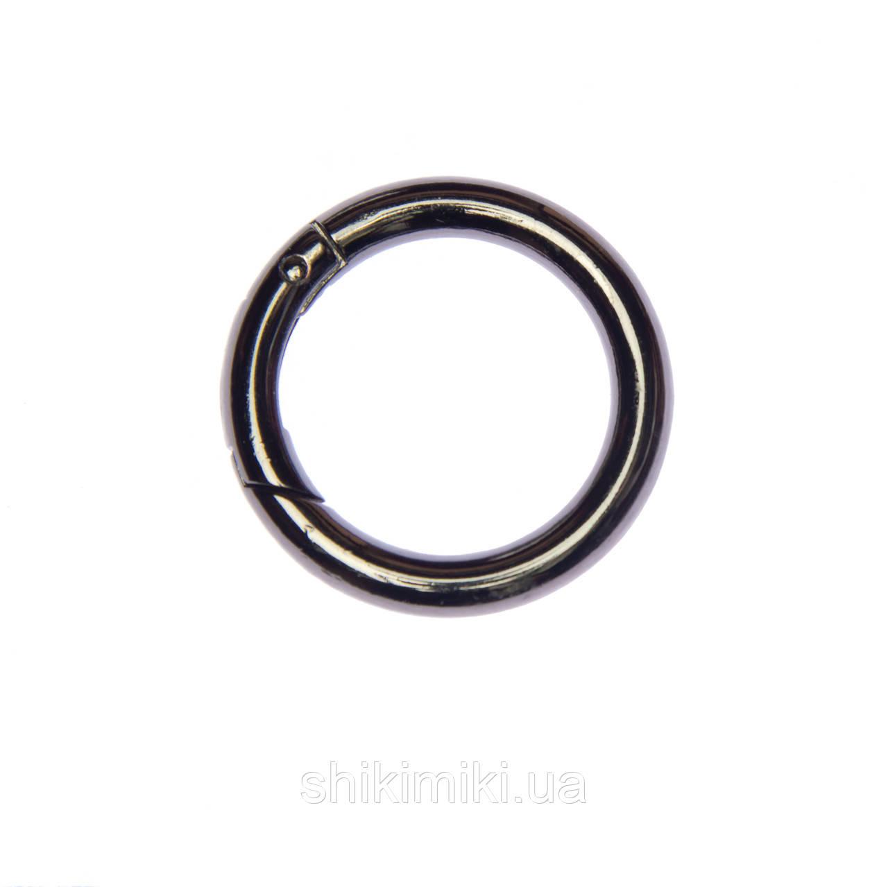Кольцо-карабин KK03-2 (30 мм), цвет темный никель