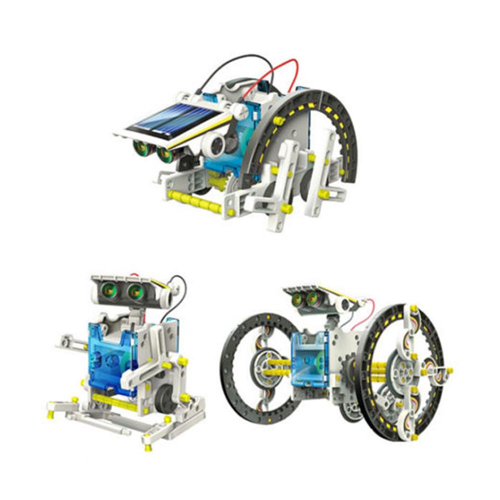 Робот конструктор Solar Robot 14 в 1 на солнечной батарее, интерактивный набор для детей