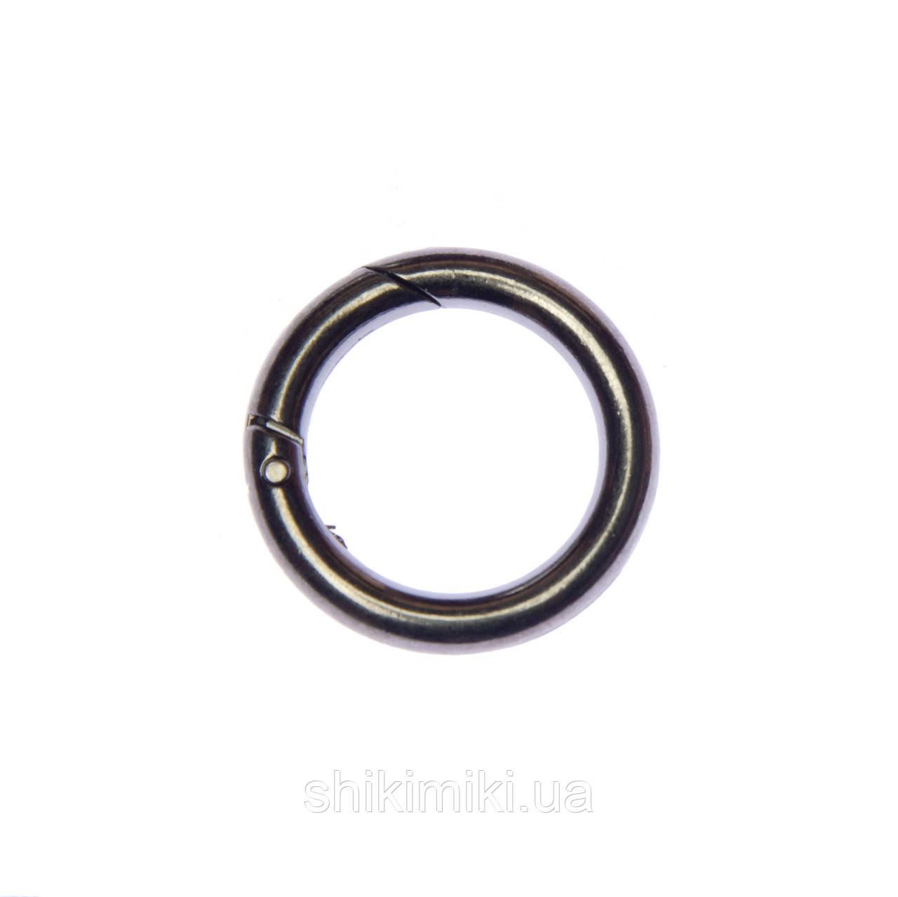 Кольцо-карабин KK02-2 (28 мм), цвет темный никель