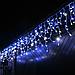 Уличная новогодняя гирлянда бахрома синего свечения Xmas 120 LED 3,3*0,7 м (белый провод), фото 5