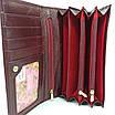 Класичний шкіряний жіночий гаманець / Классический кожаный женский кошелек Balisa PY-D115 red, фото 8