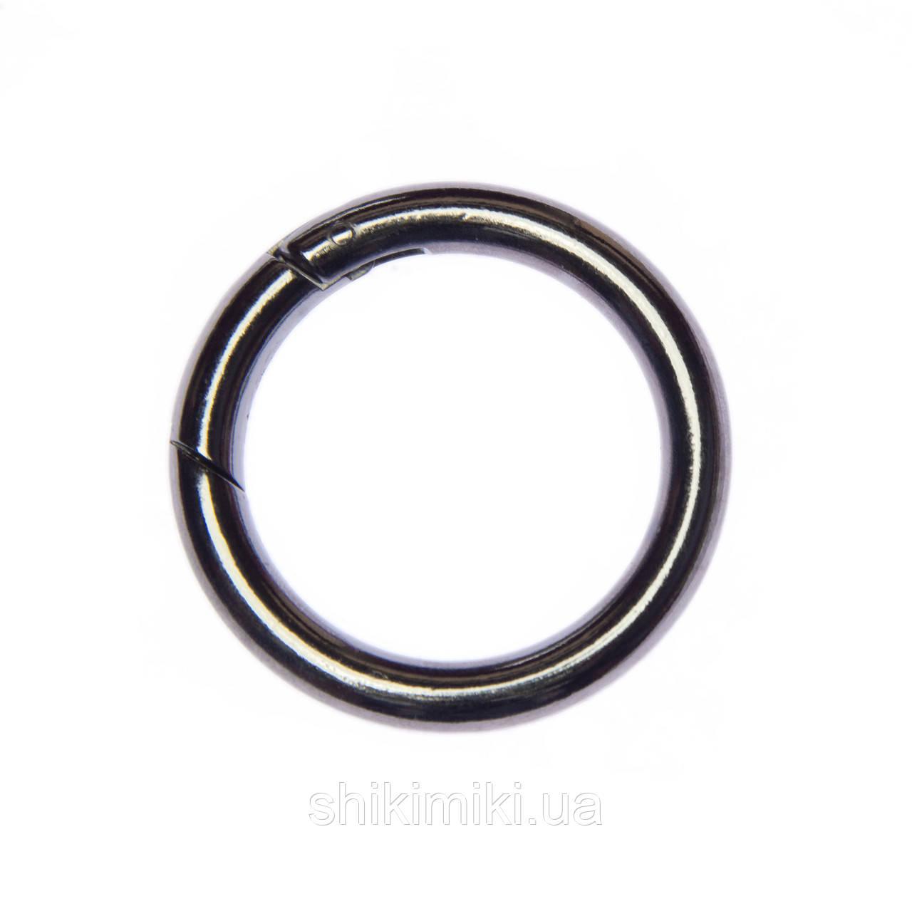 Кольцо-карабин KK05-2 (39 мм), цвет темный никель