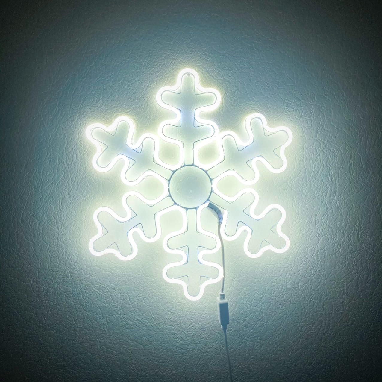 Уличный мотив Снежинка ∅50 см Белый цвет