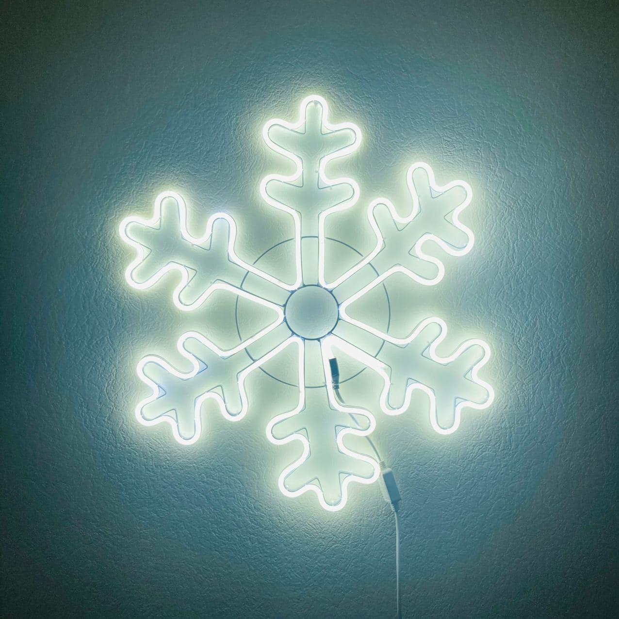 Уличный мотив Снежинка ∅70 см Белый цвет