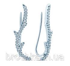 Сережки клаймбери срібло з родієвим покриттям Україна