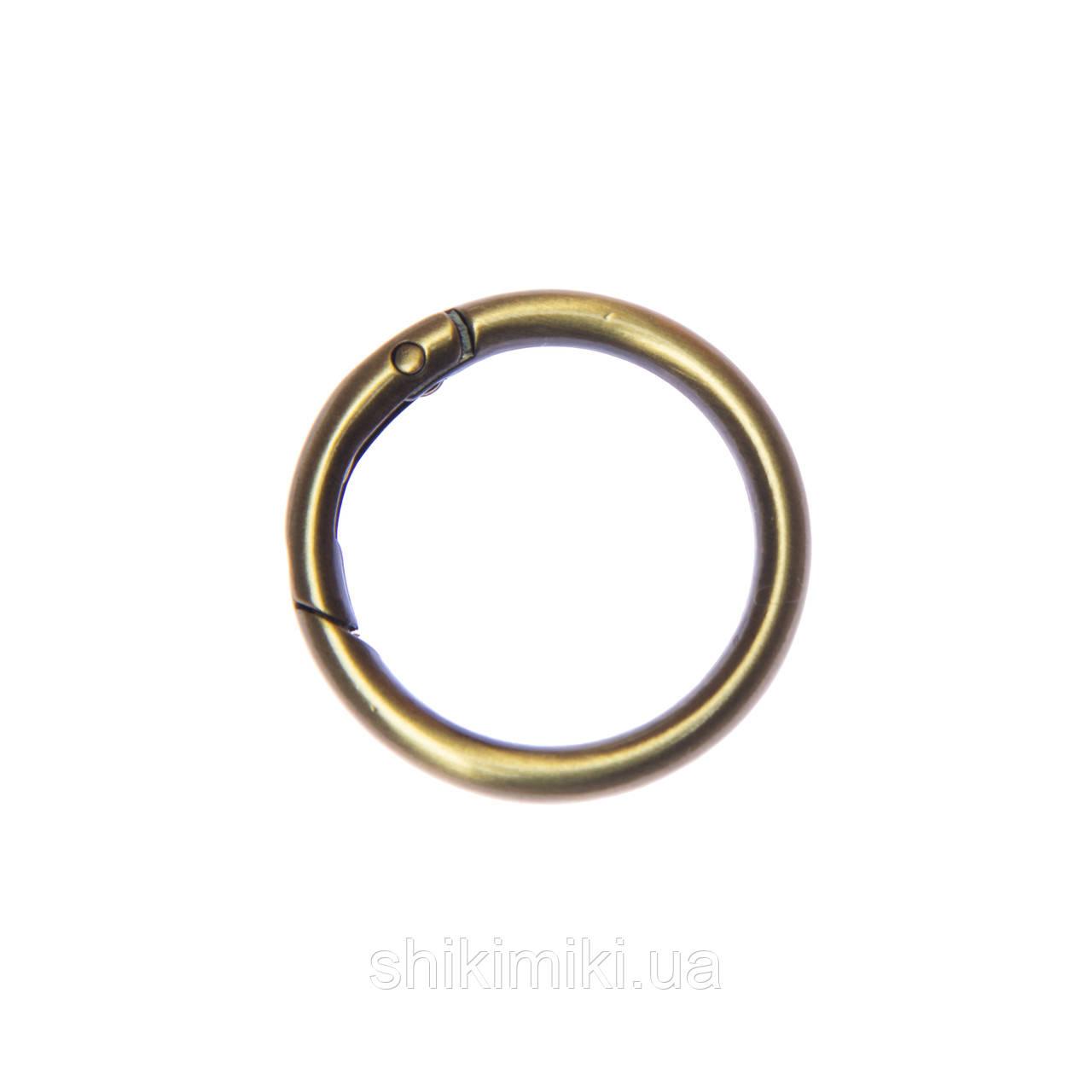 Кольцо-карабин KK03-44 (30 мм), цвет антик