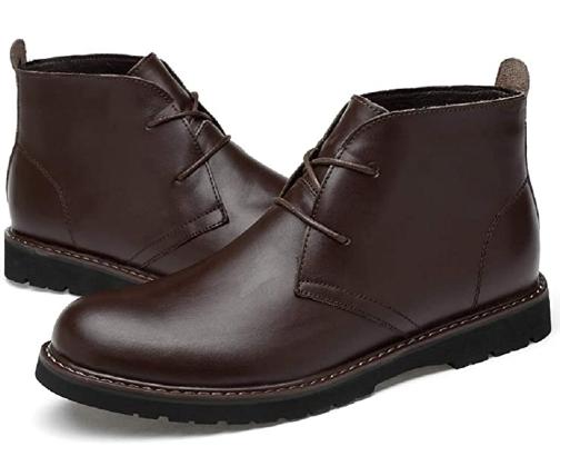 Ботинки мужские Men's Genuine Leather Business Casual Shoes Classic Chukka Boots - Brown