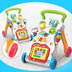 Детские развивающие музыкальные каталка-ходунки с игровой панелью Huanger 0801
