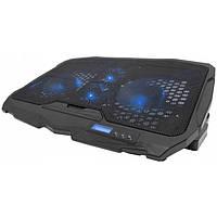 Охлаждающая подставка для ноутбуков Laptop Cooler S18 с подсветкой на 4 вентилятора