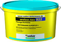 Weber.tec 822 light grey (Superflex 1), 8кг - высокоэластичный гидроизоляционный раствор