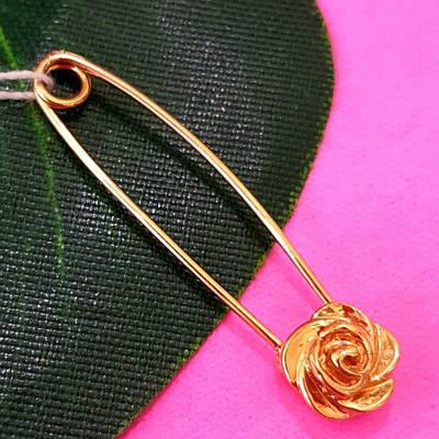 Золота шпилька Квіточка - Шпилька золото 585 Троянда