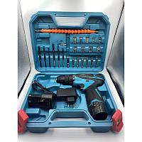 Шуруповерт аккумуляторный дрель Makita 12V Li-ion чемоданчик набор инструментов 2 аккумулятора для ремонта