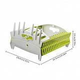 Органайзер для посуды collapsible compact dish rack, фото 4