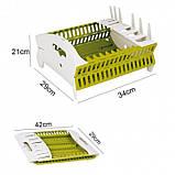Органайзер для посуды collapsible compact dish rack, фото 5