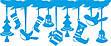 Новогодние наклейки на окна для дома, витрин магазинов, кафе, кухни, детской 1100х500 мм Еловая ветвь, фото 2