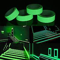 Лента фосфорная светящаяся в темноте 5м украшение интерьера
