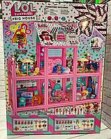 """Детский большой двухэтажный кукольный домик """"LOL"""" 8342 со световыми и звуковыми эффектами, 6 кукол, в коробке"""