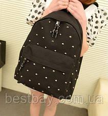 Стильный Молодёжный Рюкзак с заклепками, фото 2
