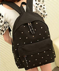 Стильный Молодёжный Рюкзак с заклепками, фото 3