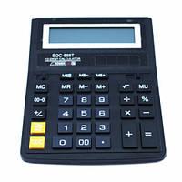 Калькулятор настольный бухгалтерский 20х15см 12-разрядный SDC-888T, 102133