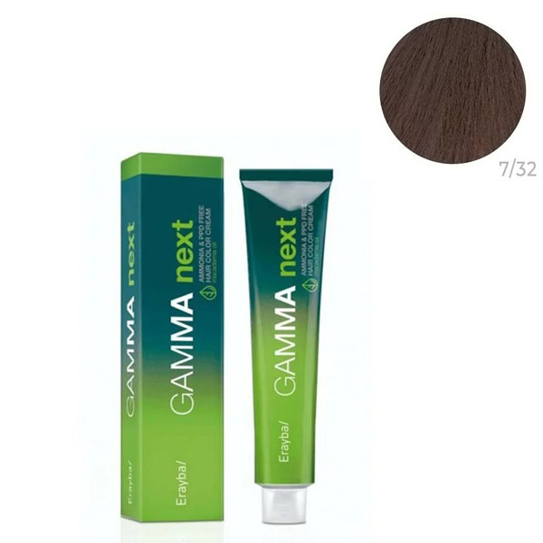 Безаммиачная крем-краска для волос Erayba Gamma Neхt 7/32 Переливающийся бежевый русый 100 мл
