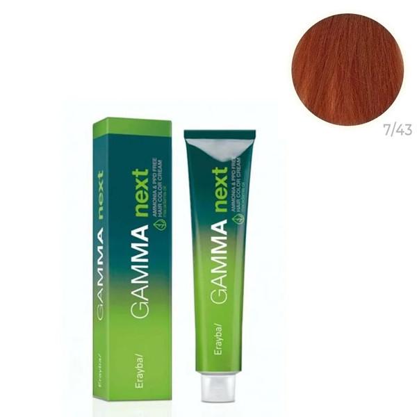 Безаммиачная крем-краска для волос Erayba Gamma Neхt Next 7/43 Русый медно-золотистый 100 мл
