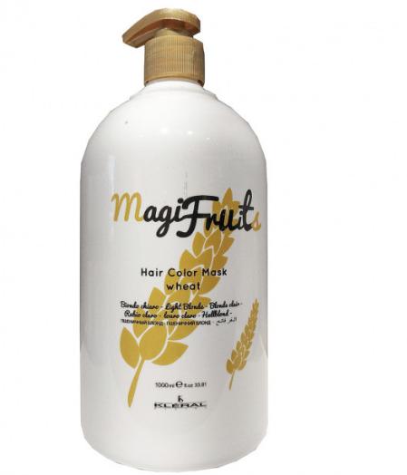 Маска KLERAL Magifruit Color mask wheat с пигментом Пшеничный блонд с протеинами пшенички 1000 мл
