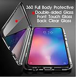 Магнитный металл чехол FULL GLASS 360° для Xiaomi Redmi 9A, фото 2