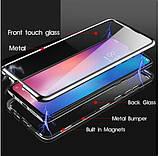 Магнитный металл чехол FULL GLASS 360° для Xiaomi Redmi 9A, фото 5