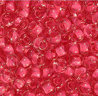 Бисер Preciosa Чехия №38398 1г, розовый прозрачный с внутренней окраской